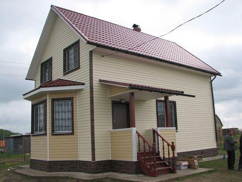 Сочетание с красной крышей