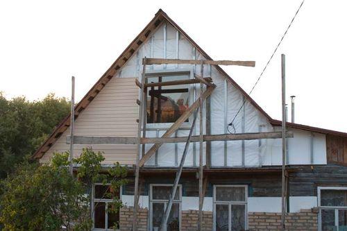 Обрешетка фронтона дома