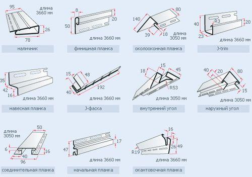 Размеры панелей сайдинга винилового