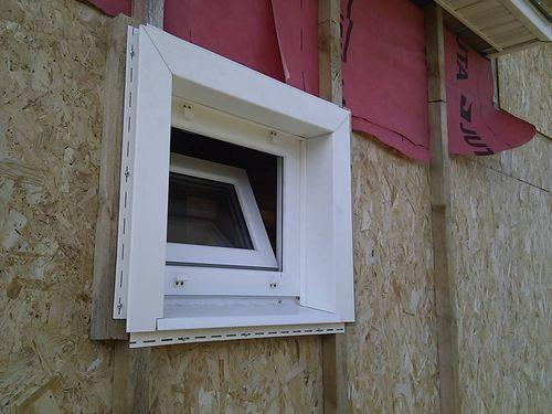Устанавливаем сайдинг вокруг окна