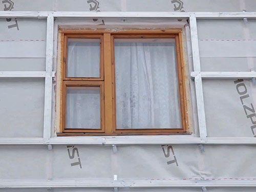 Обрешетка вокруг окна