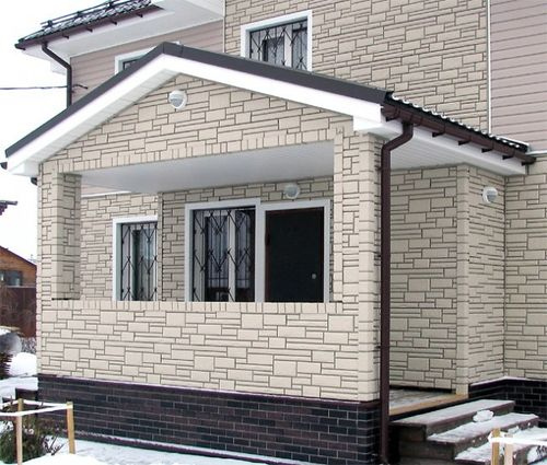 Отделка бетонным сайдингом