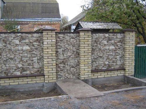 Забор из фасадного сайдинга