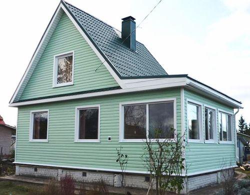 Отделка сайдингом разных цветов фото домов