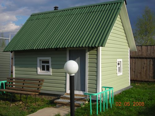Сочетание сайдинга и крыши