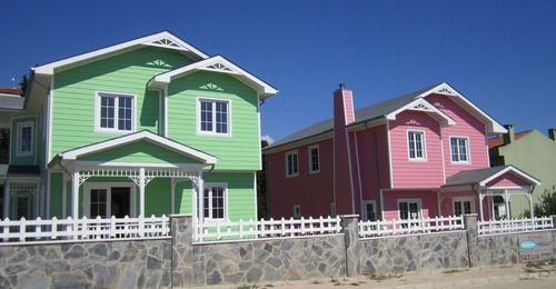 Зеленый цвет дома