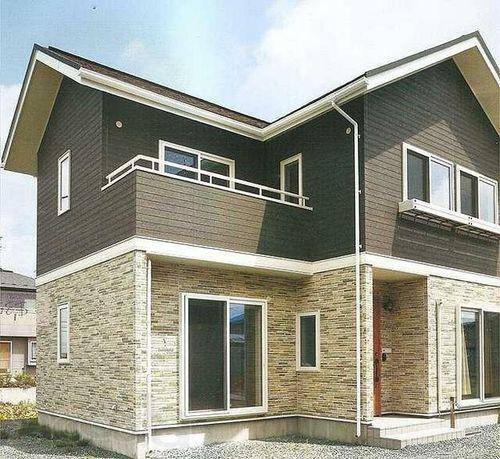 оформления фасада дома сайдингом_3