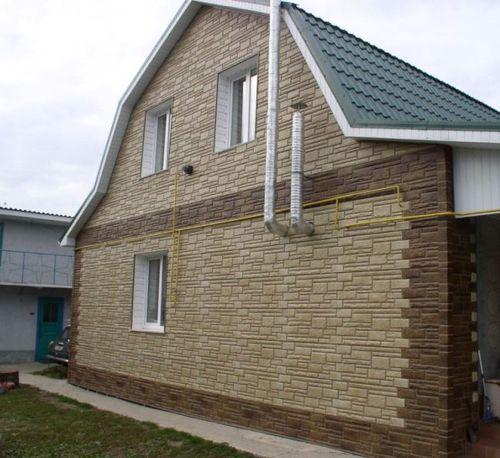 Прияменяем сайдинг под дикий камень для отделки дома