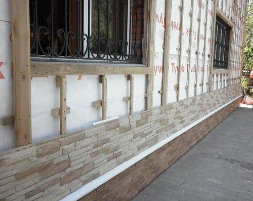 Фото вариантов покраски фасада дома